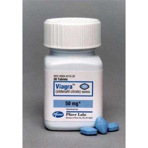 Brand Viagra 50 mg - bottle of 30 pills D